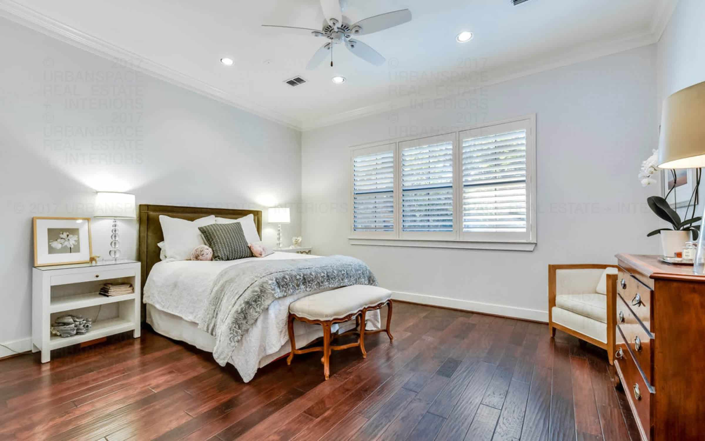 bedroom wood flooring open light windows liberty park austin house